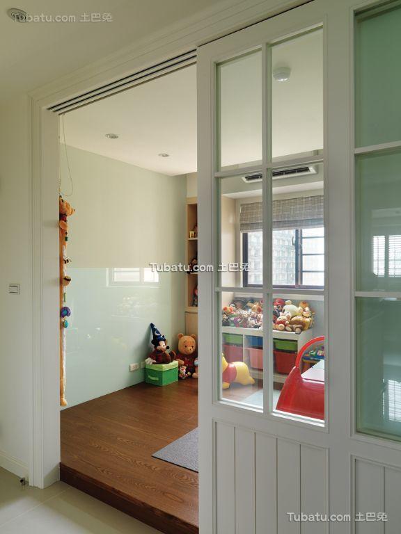 田园风格儿童房隔断家装效果图