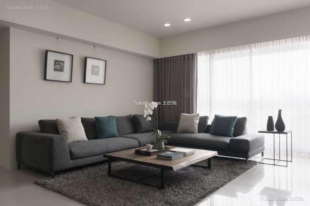 简约风格两居室家装效果图