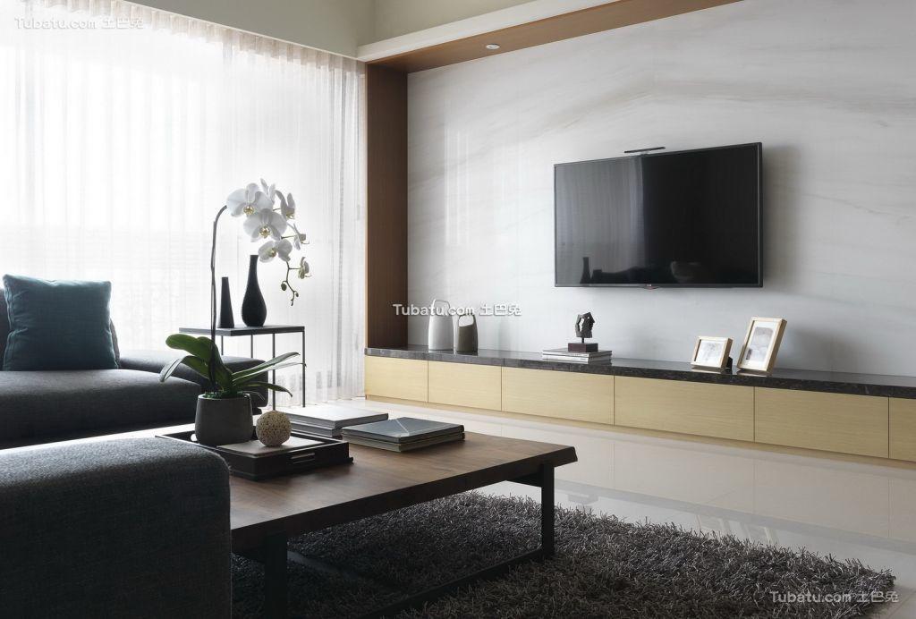 简约风格家居电视背景墙效果图