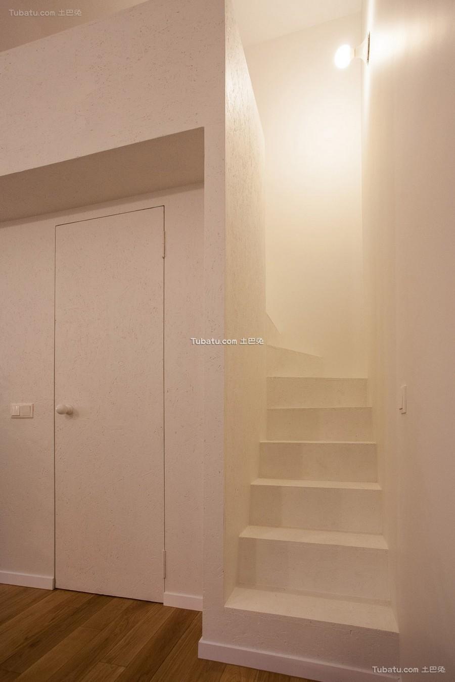 简约石膏楼梯设计