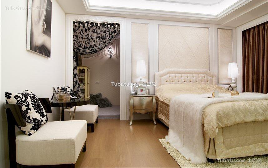 新古典别墅设计卧室效果图