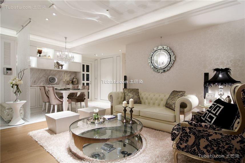 新古典别墅家居客厅设计效果图