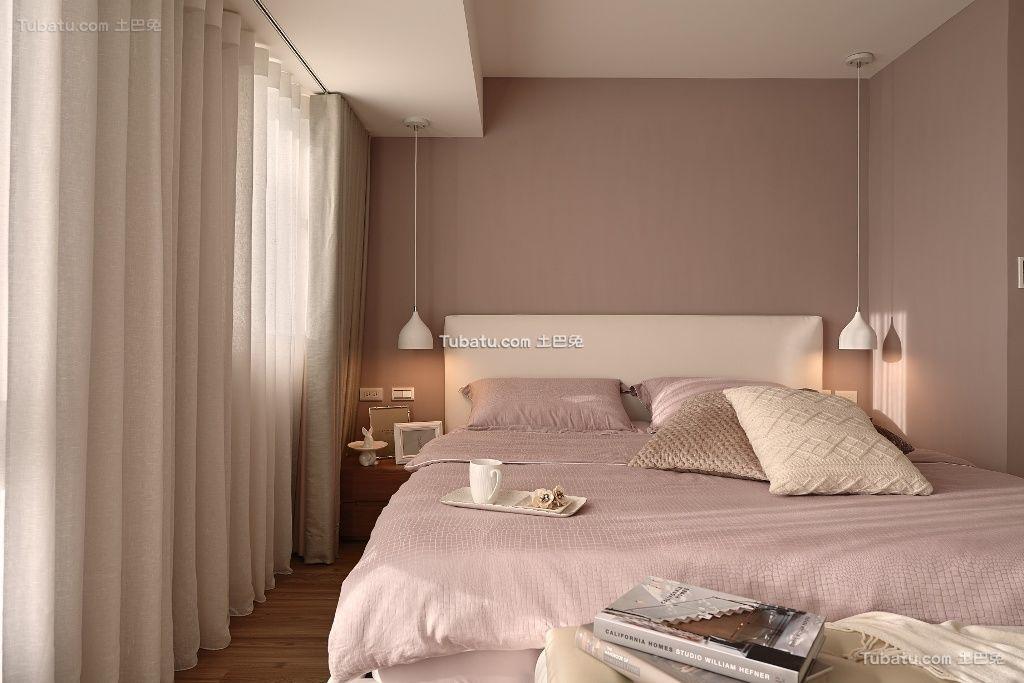 简易时尚卧室窗帘图