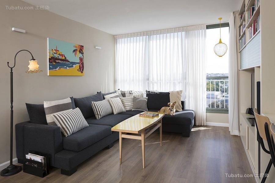 现代休闲二居装潢案例