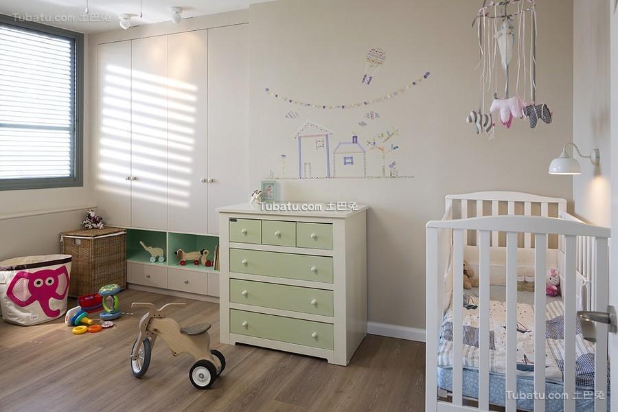 时尚现代儿童房装潢案例