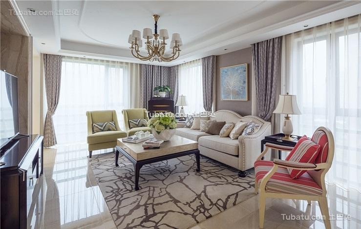 简欧风格客厅室内家居设计效果图