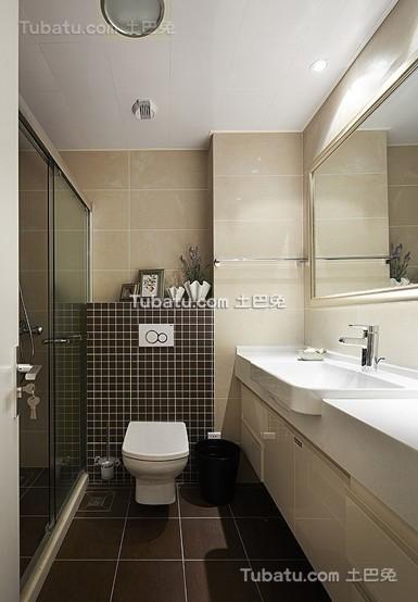 现代卫生间洁具布局设计