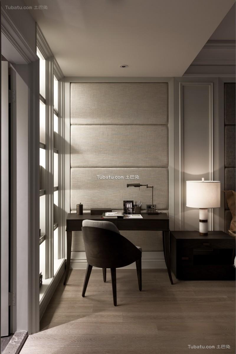 美式公寓书房设计室内效果图欣赏