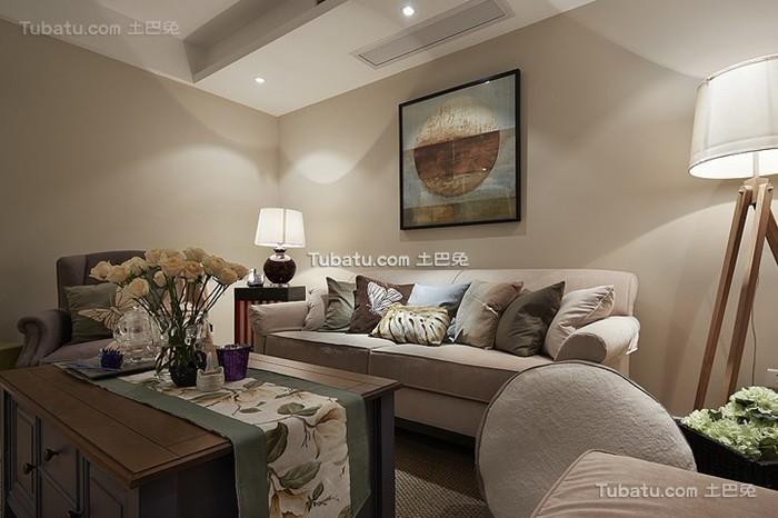 清新美式客厅装潢案例