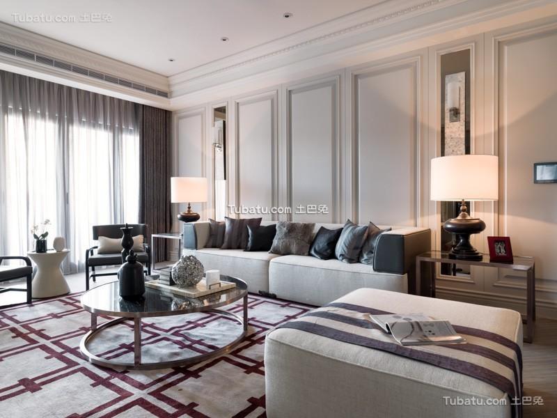 美式公寓家居设计室内效果图