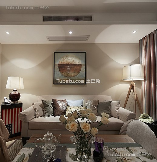 清新美式客厅装修设计