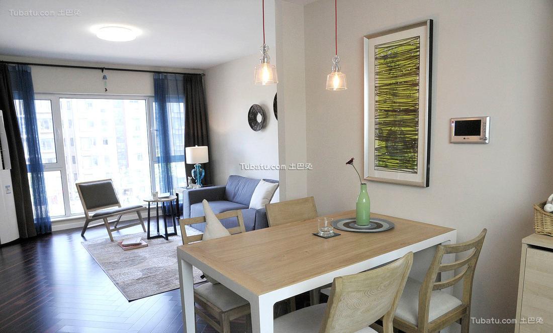 宜家风格两居室餐厅设计图片