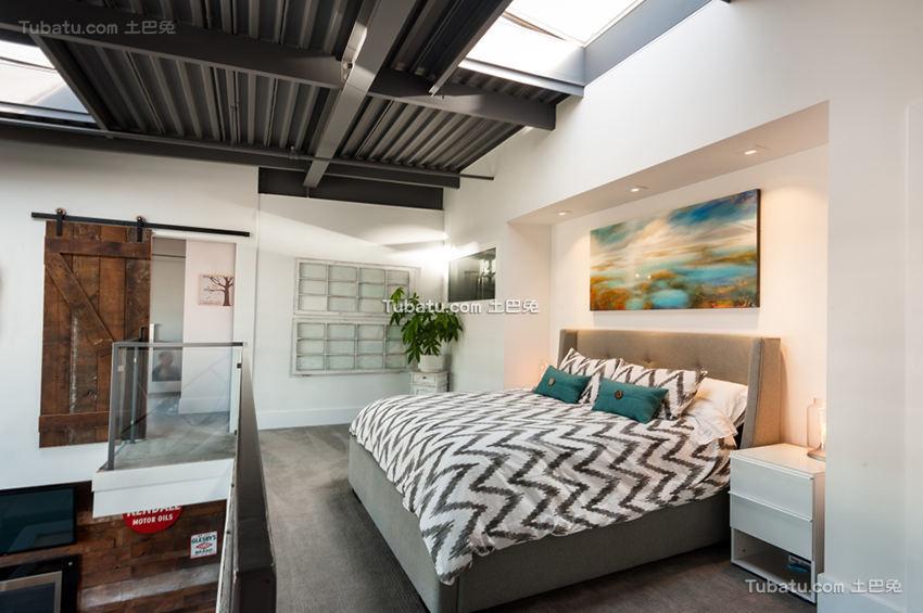 现代工业风家居卧室装潢