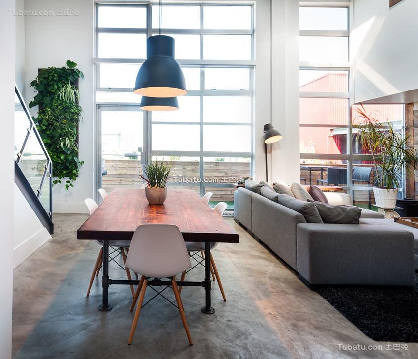 现代时尚工业风家居餐厅设计