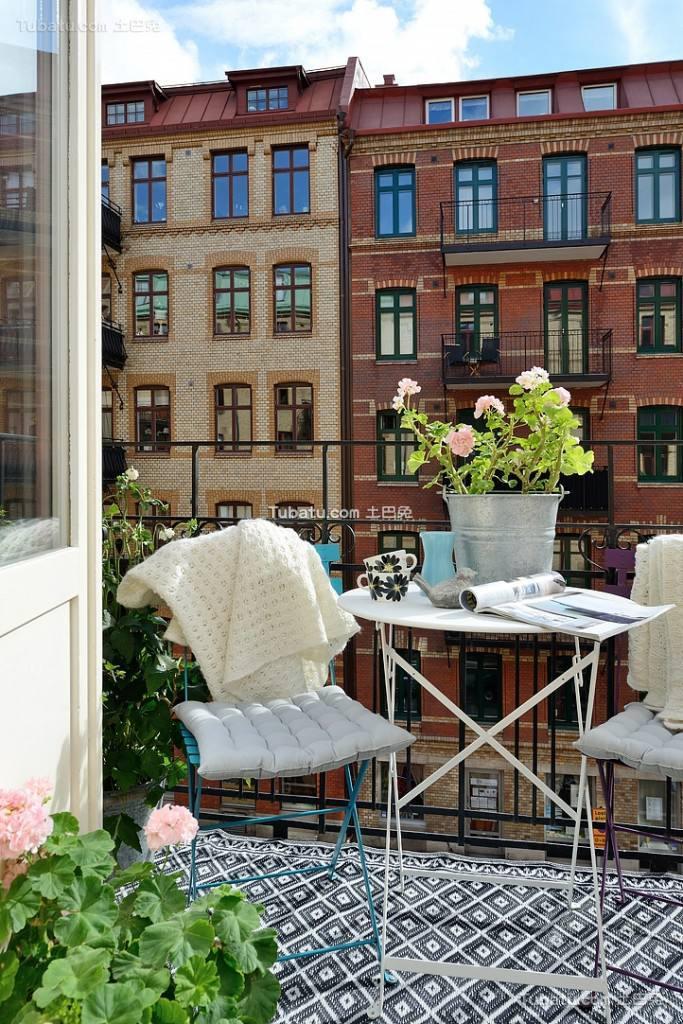 北欧风格小阳台软装饰