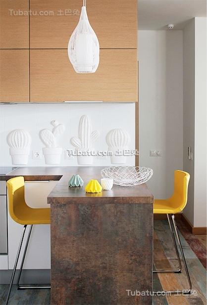 现代自然实木吧台设计