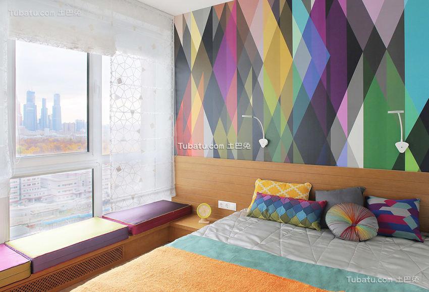 现代多彩缤纷卧室设计