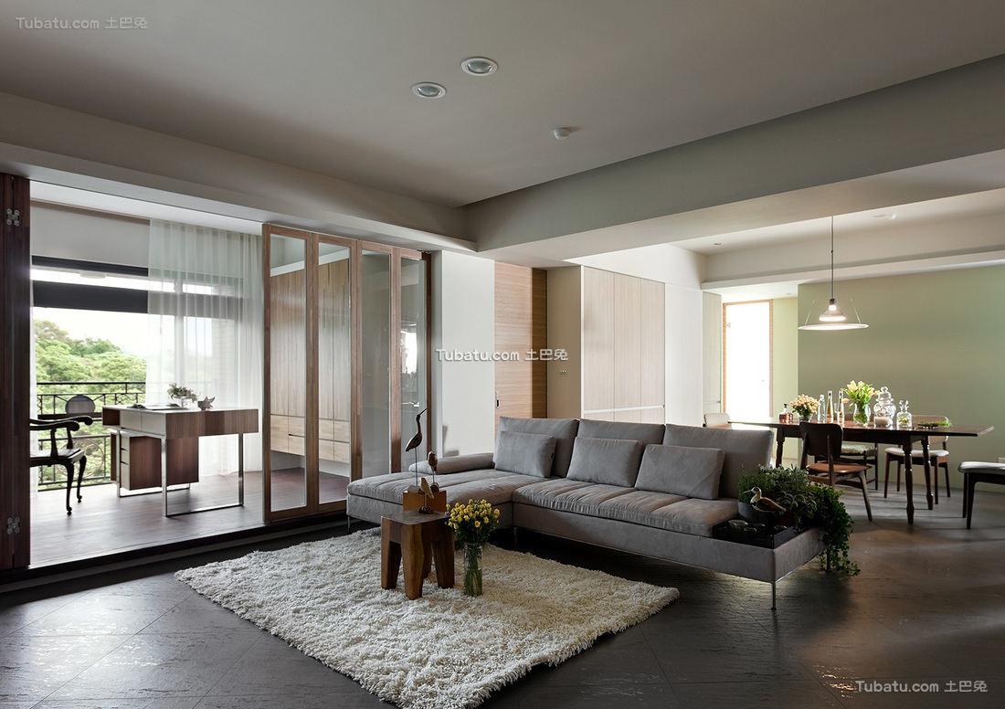 简约风格高级公寓室内设计效果图