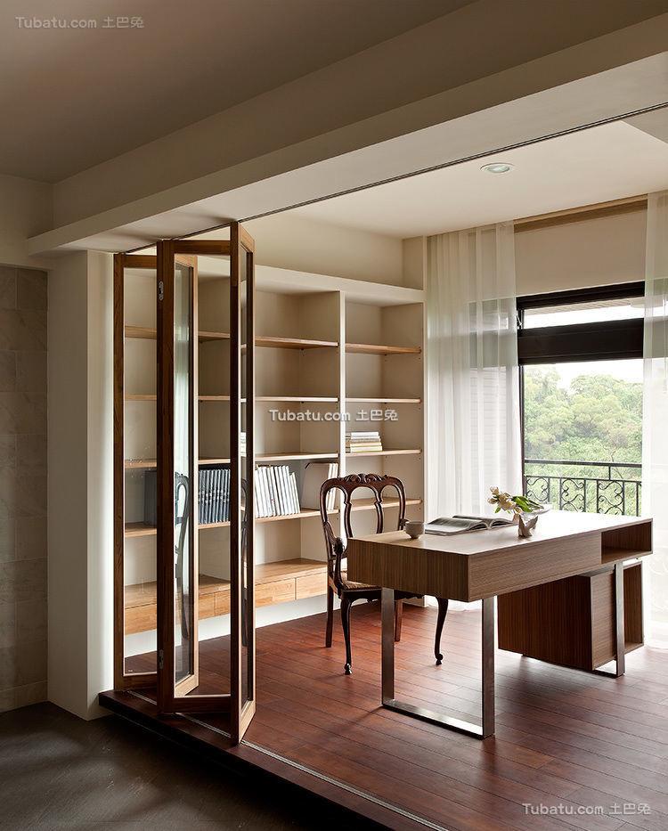 简约风格高级公寓书房设计效果图
