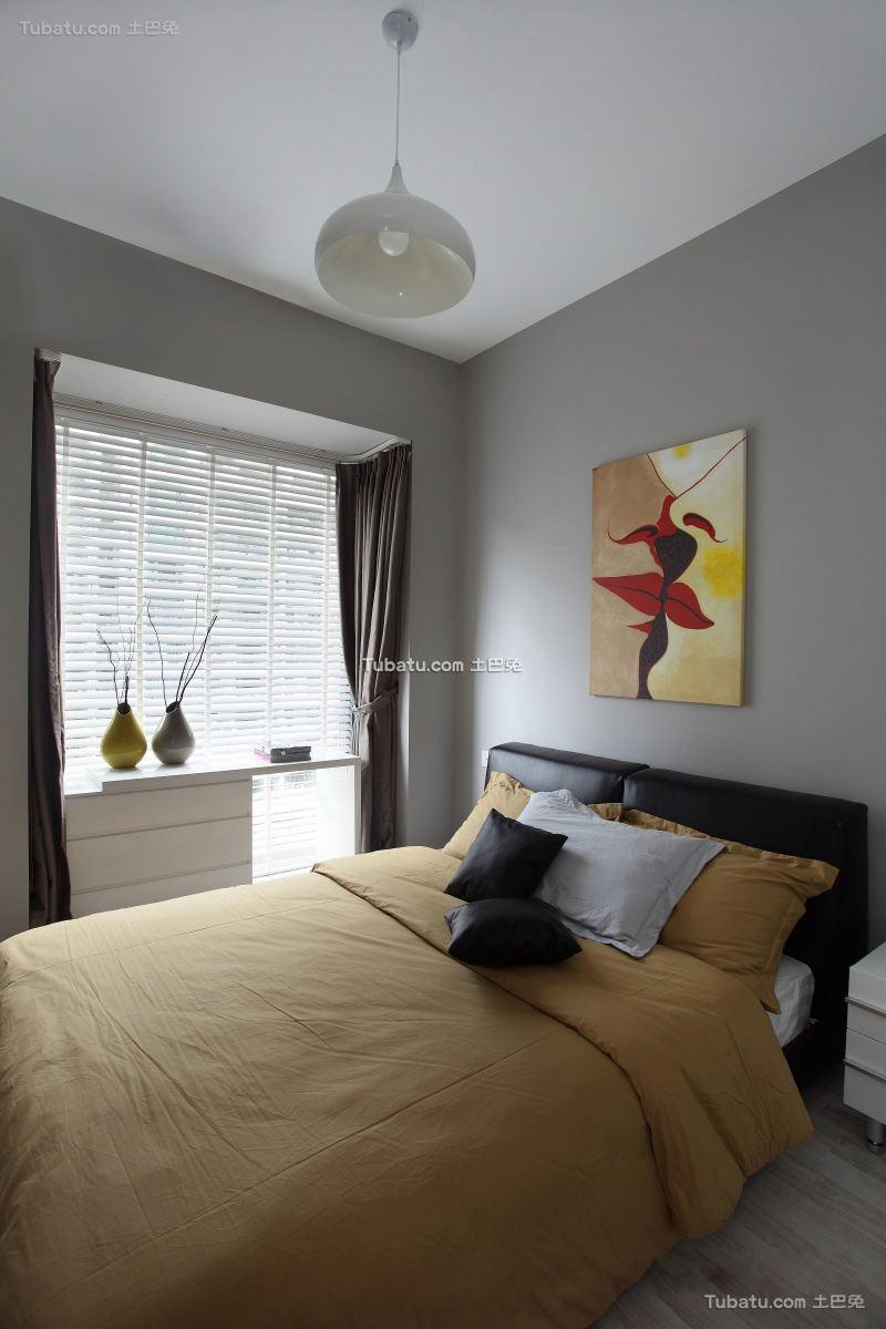 装修室内卧室窗帘效果图