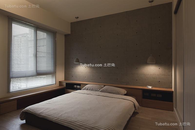 现代灰色主题卧室装潢