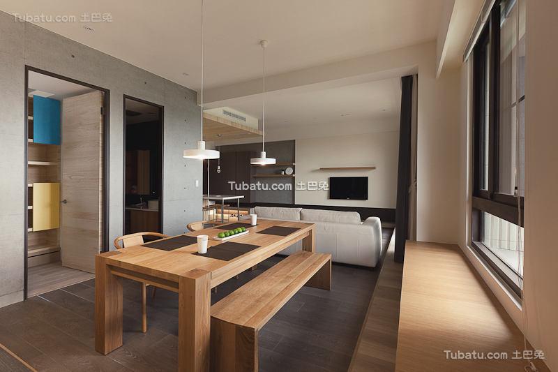现代原木餐厅设计装潢