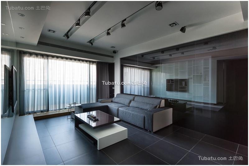 现代时尚黑色家装客厅