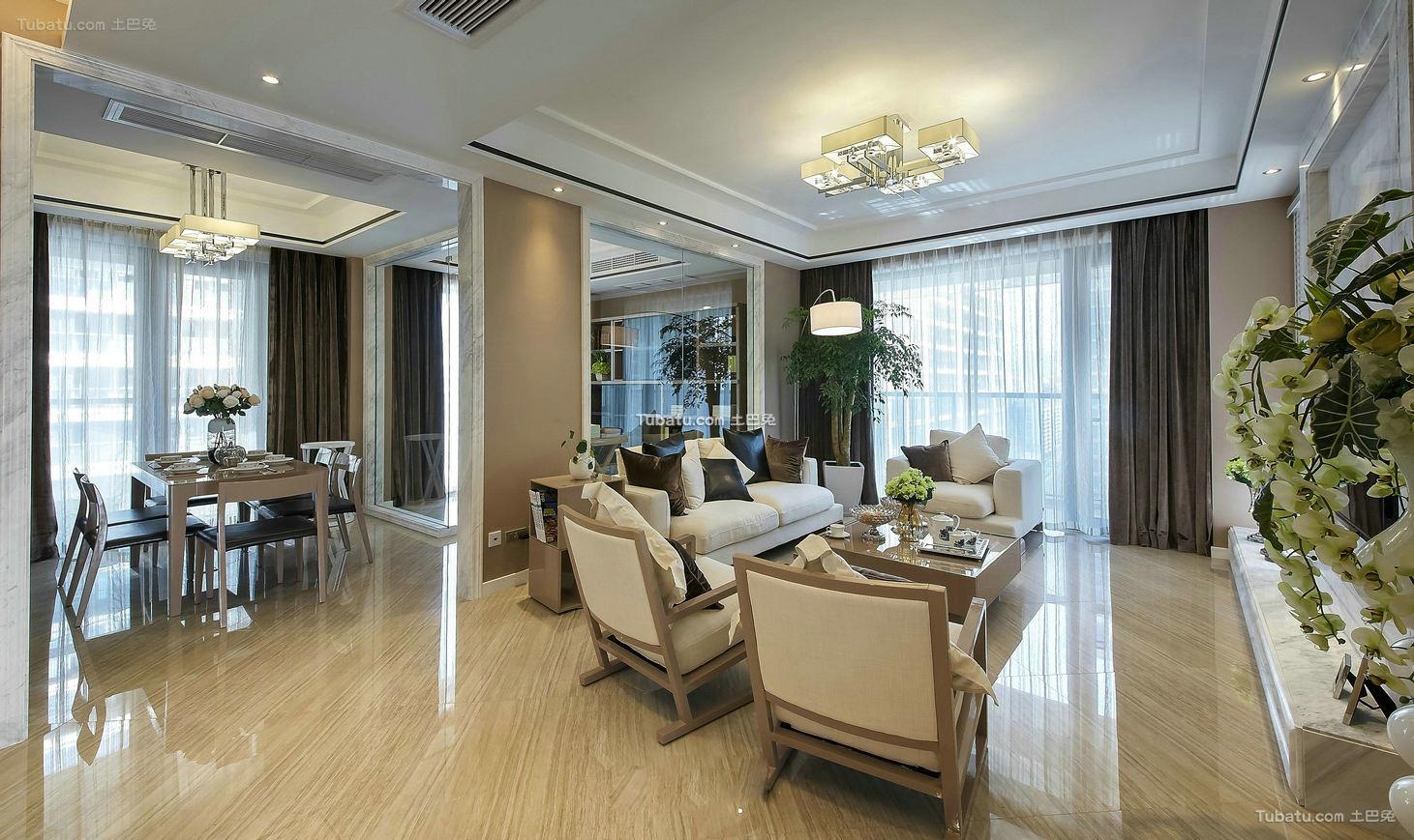美式设计客厅吊顶欣赏