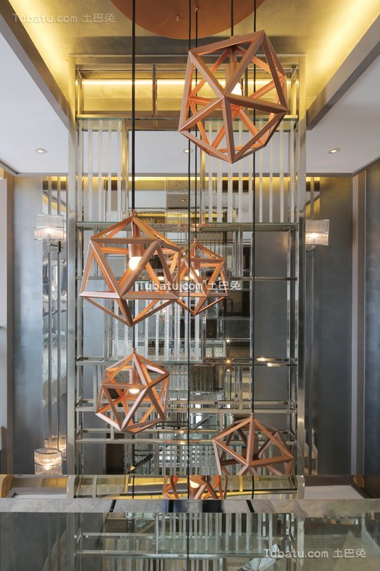 现代简约室内创意吊灯设计效果图欣赏