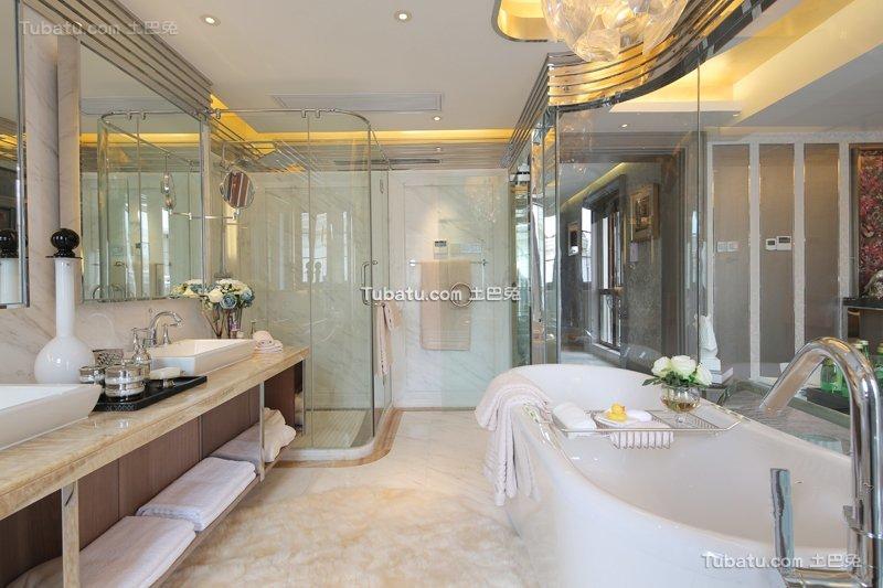 现代简约浴室家居设计效果图欣赏