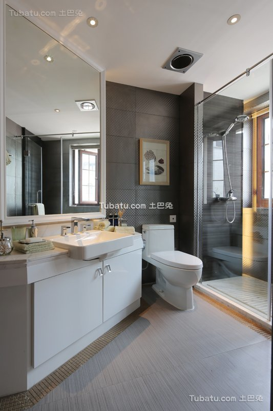 现代简约卫生间家装设计效果图片