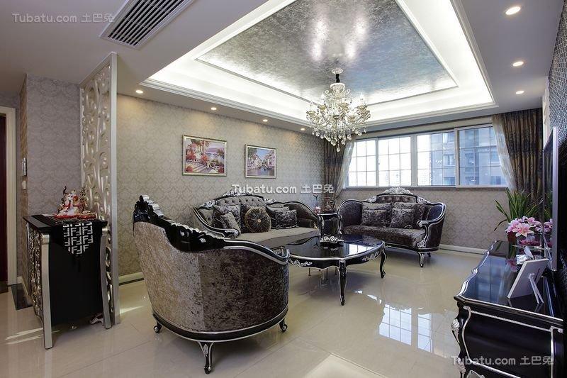 豪华新古典三居室装潢
