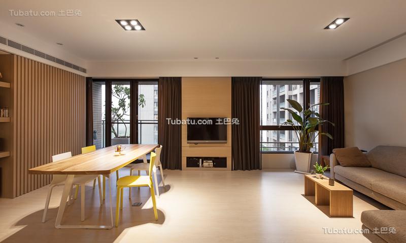 时尚现代二居装修设计
