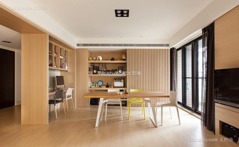 现代家装原木餐厅设计