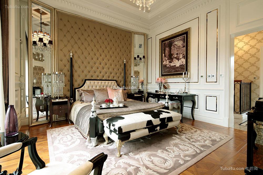 美式古典豪华卧室效果图