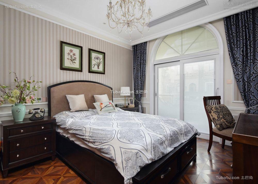地中海风格别墅室内卧室效果图片