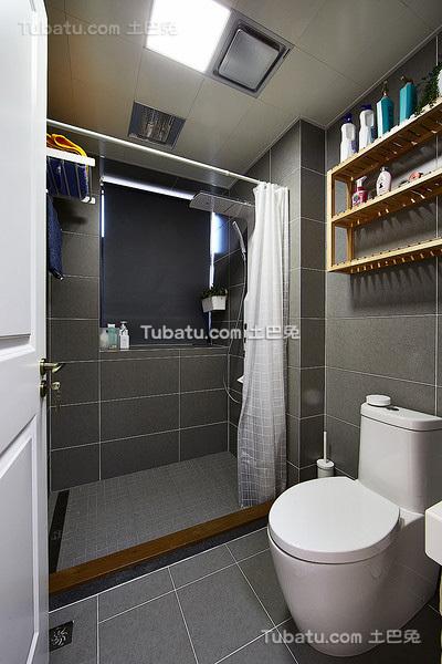 时尚灰色现代卫生间设计案例