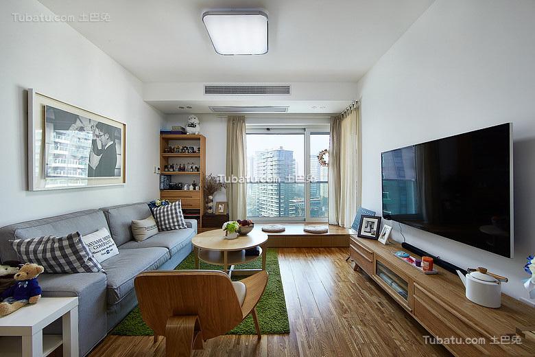 现代乐活家装原木客厅设计
