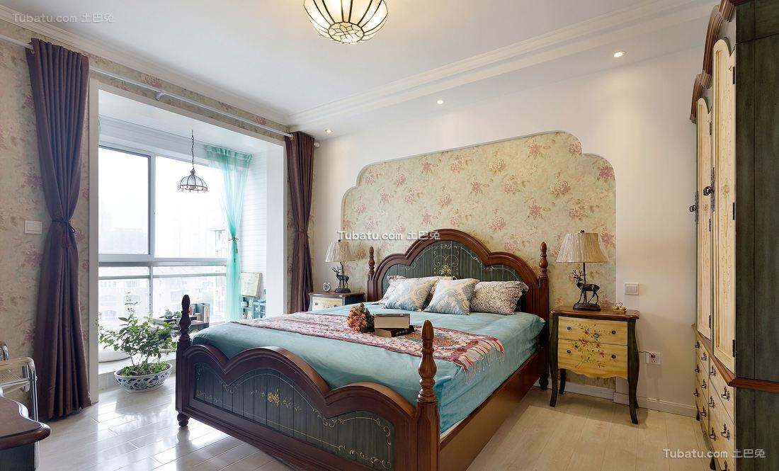 地中海风格家居卧室装饰效果图