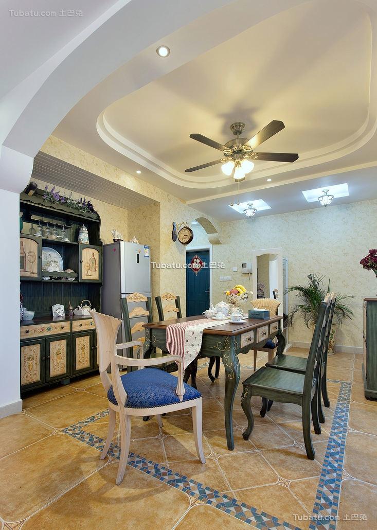 地中海风格家居餐厅装饰效果图