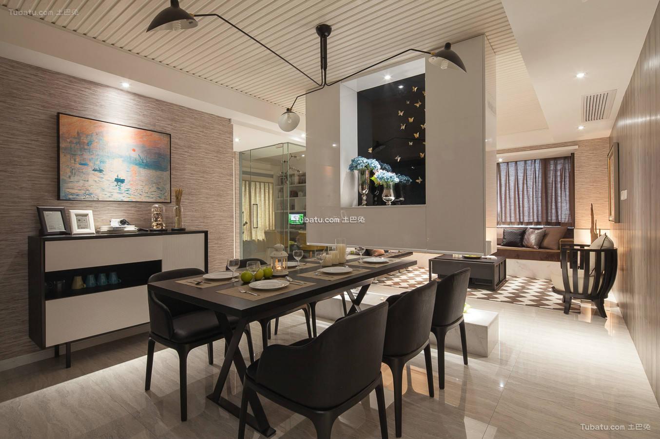 美式现代餐厅室内设计图片