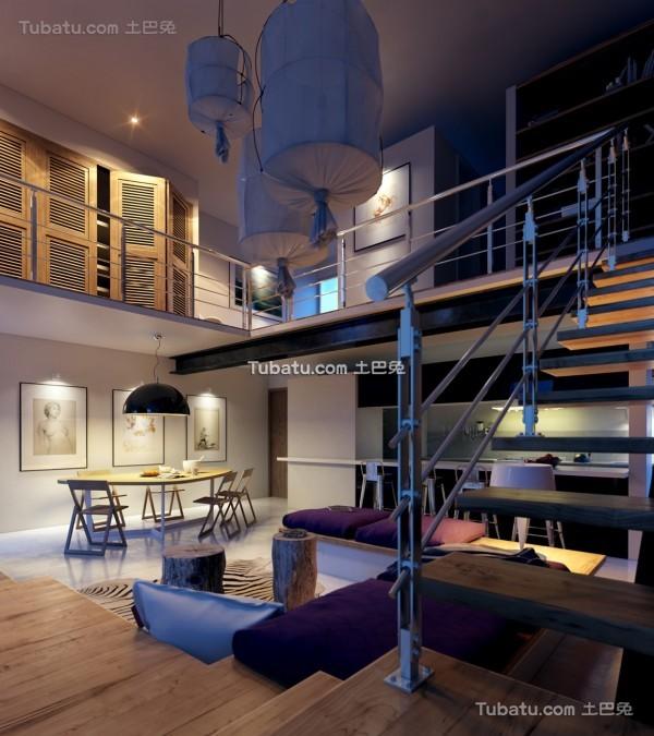 时尚现代风格loft设计效果图