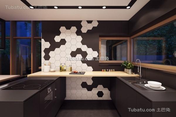 时尚现代风格loft厨房效果图
