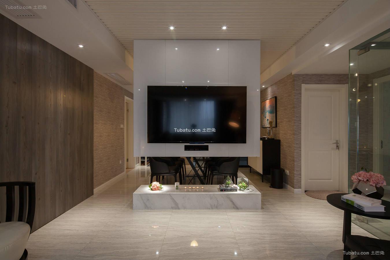 美式现代客厅室内设计图片