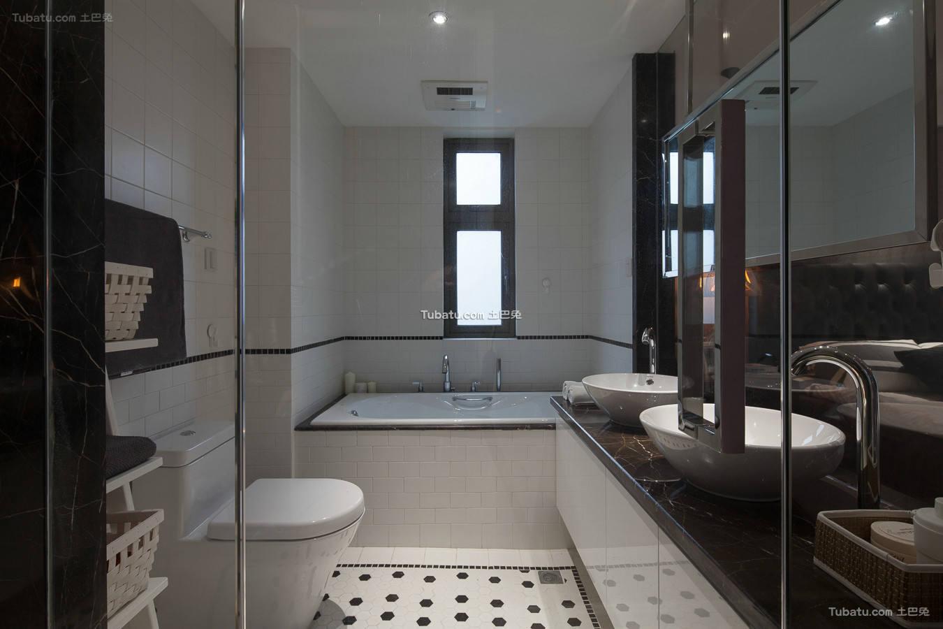 美式现代卫生间室内设计图片欣赏