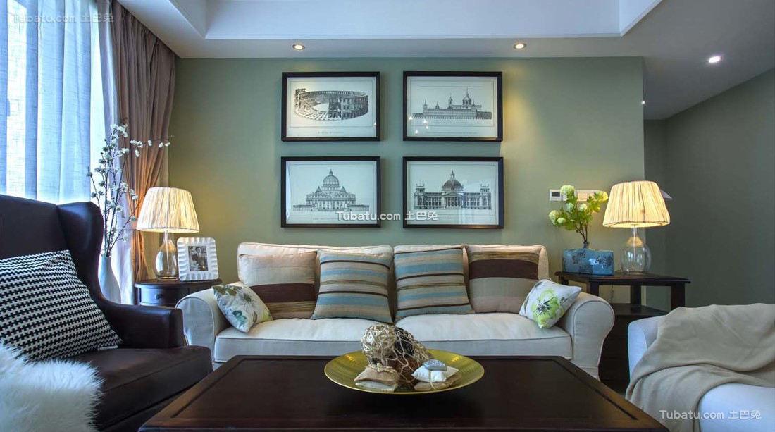 美式客厅装潢设计效果图
