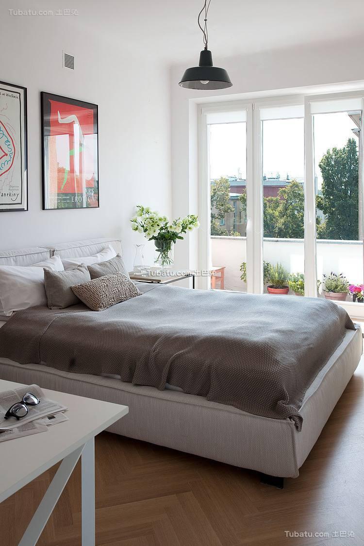 清新自然风格卧室效果图