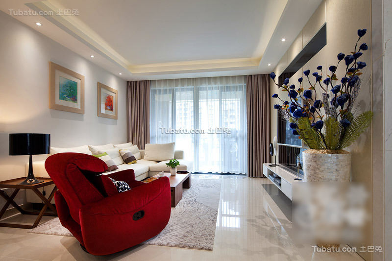 精美现代客厅布置效果图
