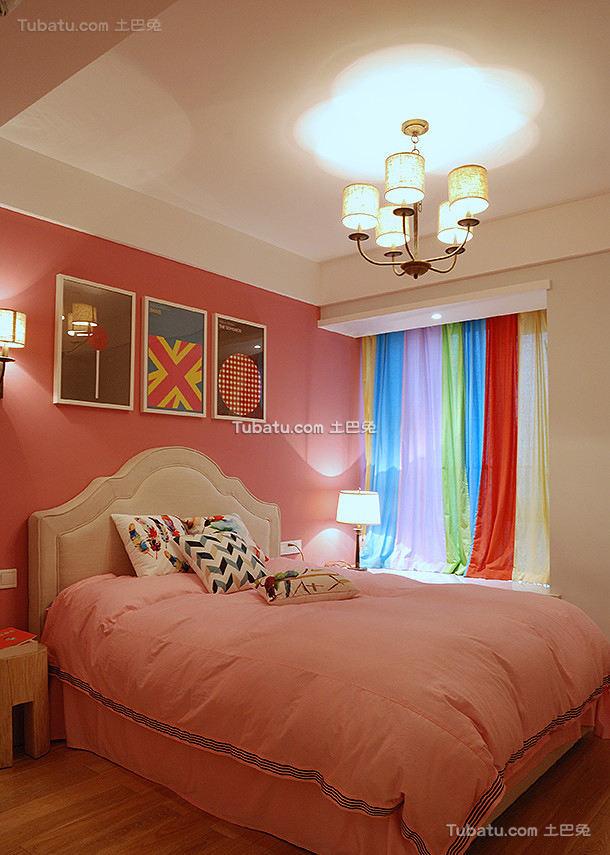 美式公主儿童房室内设计效果图