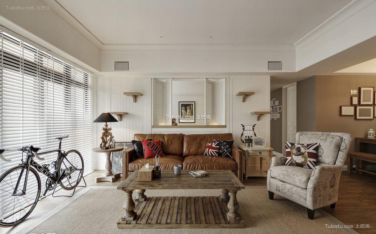 美式单身公寓室内设计效果图片
